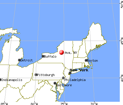 Ava, New York map