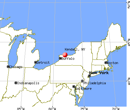 Kendall, New York map