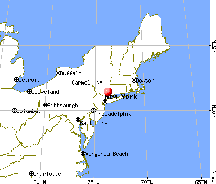 Carmel, New York map