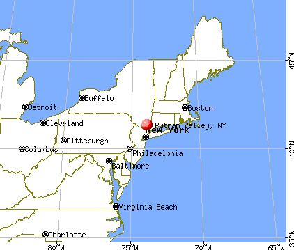 Putnam Valley, New York map