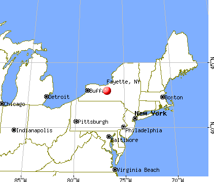 Fayette, New York map
