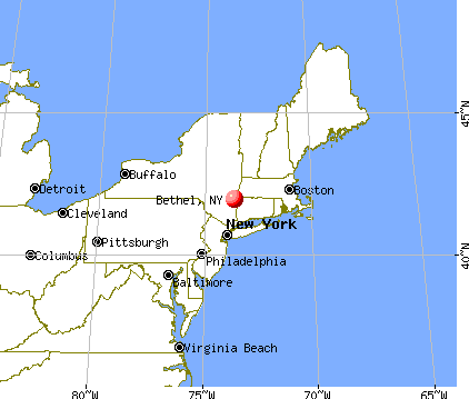 Bethel, New York map