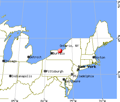 Ontario, New York map