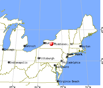 Middlesex, New York map