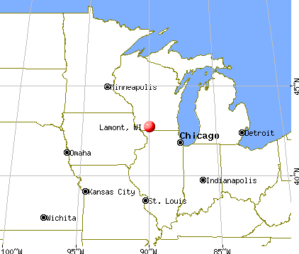 Lamont, Wisconsin map