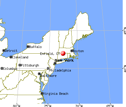 Enfield, Connecticut map