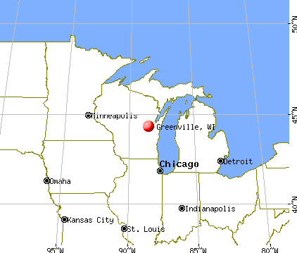 Greenville, Wisconsin map