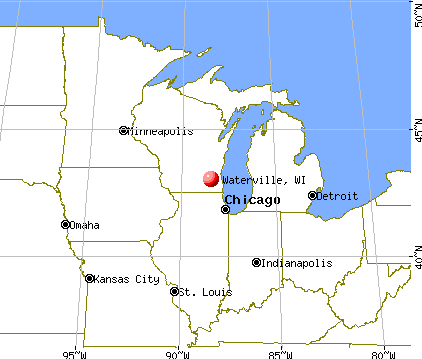 Waterville, Wisconsin map