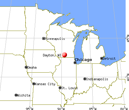 Dayton, Wisconsin map