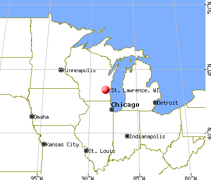 St. Lawrence, Wisconsin map