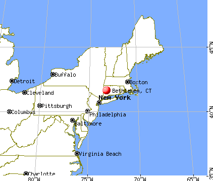 Bethlehem, Connecticut map