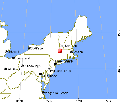Dalton, Massachusetts map