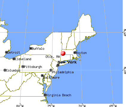 Otis, Massachusetts map