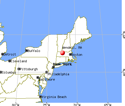 Wendell, Massachusetts map