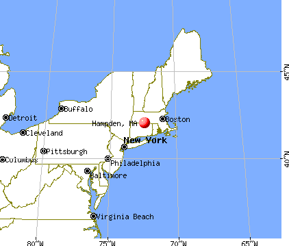 Hampden, Massachusetts map