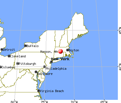 Monson, Massachusetts map