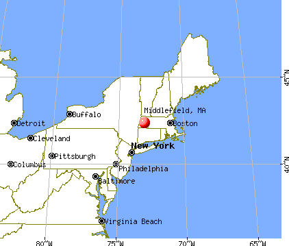 Middlefield, Massachusetts map