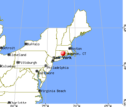 Lebanon, Connecticut map