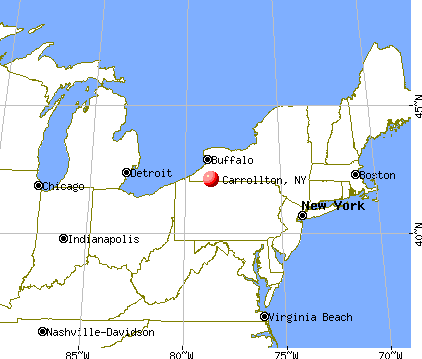 Carrollton, New York map