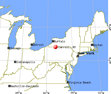 Carroll, New York map