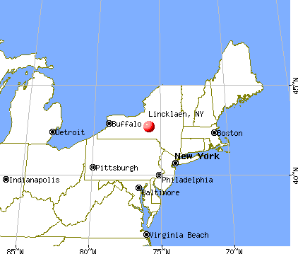 Lincklaen, New York map