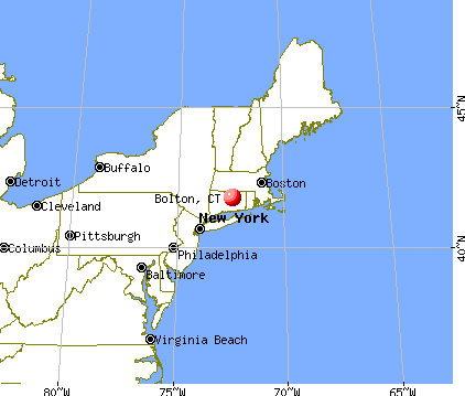 Bolton, Connecticut map