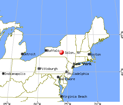 Solon, New York map