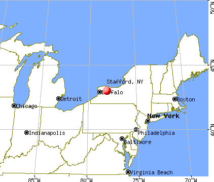 Stafford, New York map