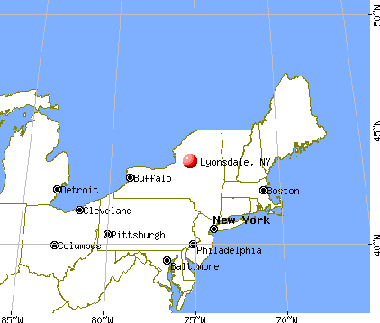 Lyonsdale, New York map