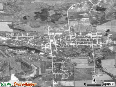 Pinckney satellite photo by USGS