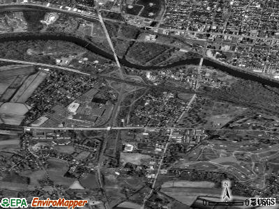 South Pottstown satellite photo by USGS