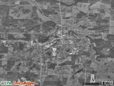 Granby satellite photo by USGS