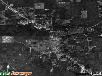 Kountze satellite photo by USGS