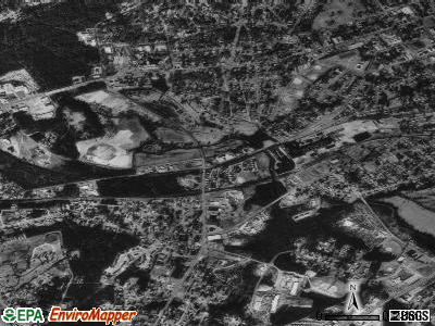 Lancaster Mill satellite photo by USGS