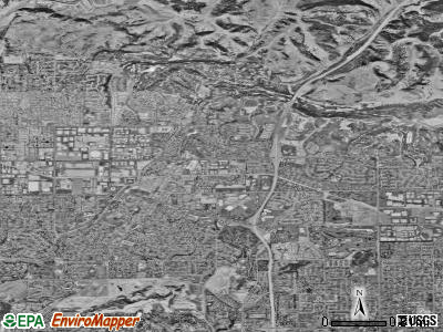 Brea satellite photo by USGS