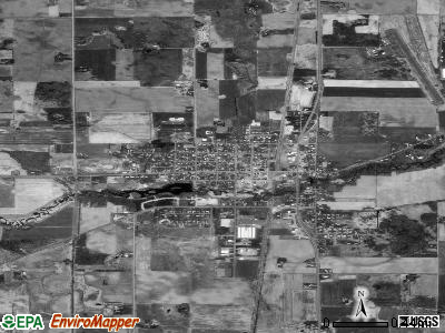 Rush City satellite photo by USGS
