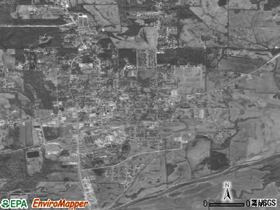 Bruce satellite photo by USGS