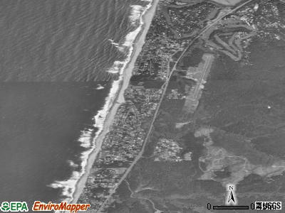 Lincoln Beach satellite photo by USGS