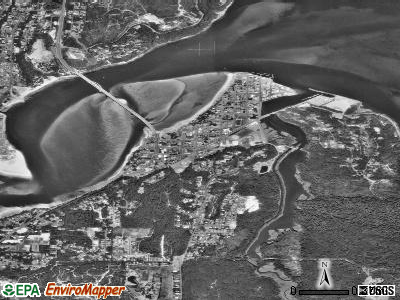 Waldport satellite photo by USGS