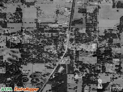 Bushnell satellite photo by USGS