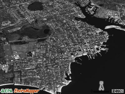 Greenport satellite photo by USGS