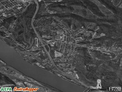 Coal Grove satellite photo by USGS