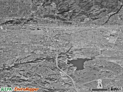 San Dimas satellite photo by USGS