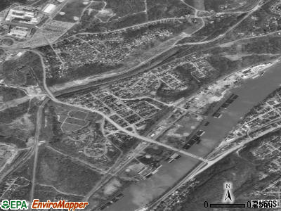 Dravosburg satellite photo by USGS