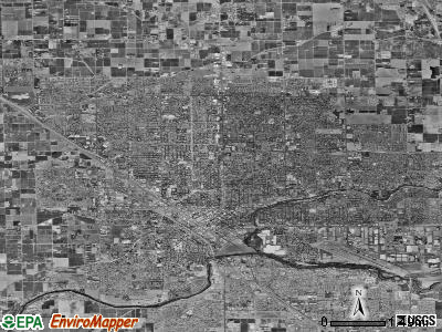 Modesto satellite photo by USGS