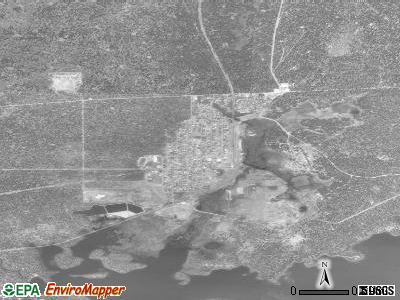 Westwood satellite photo by USGS