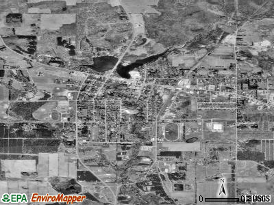Wautoma satellite photo by USGS