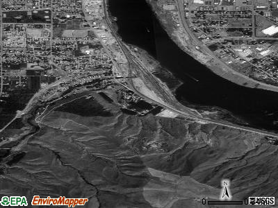 South Wenatchee satellite photo by USGS