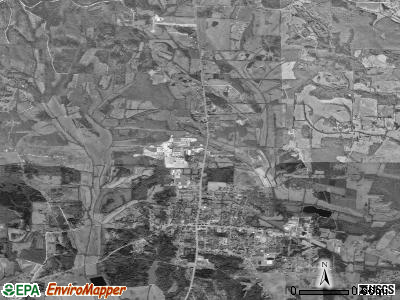 Adamsville satellite photo by USGS
