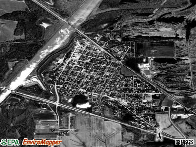 New Athens satellite photo by USGS